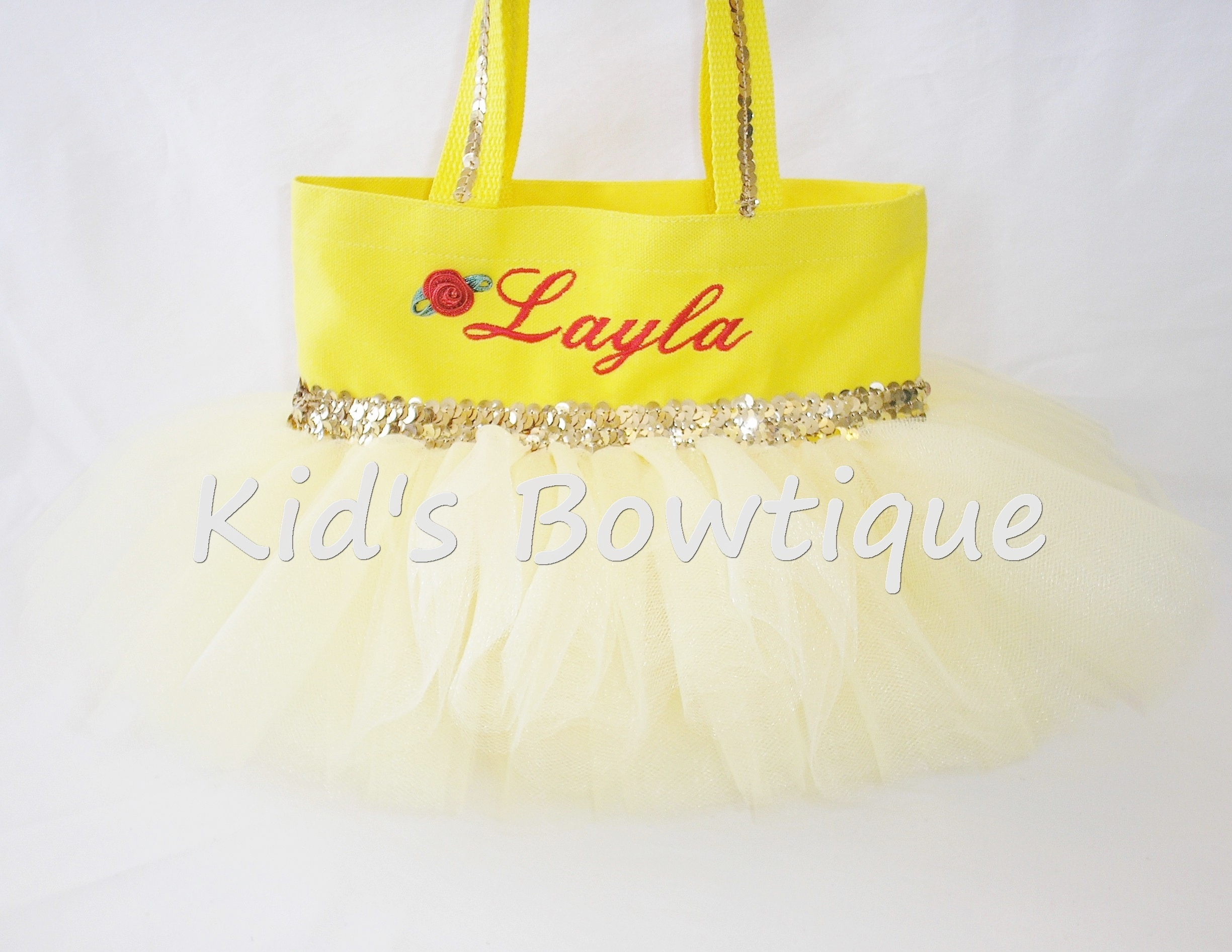 princess belle tutu bag