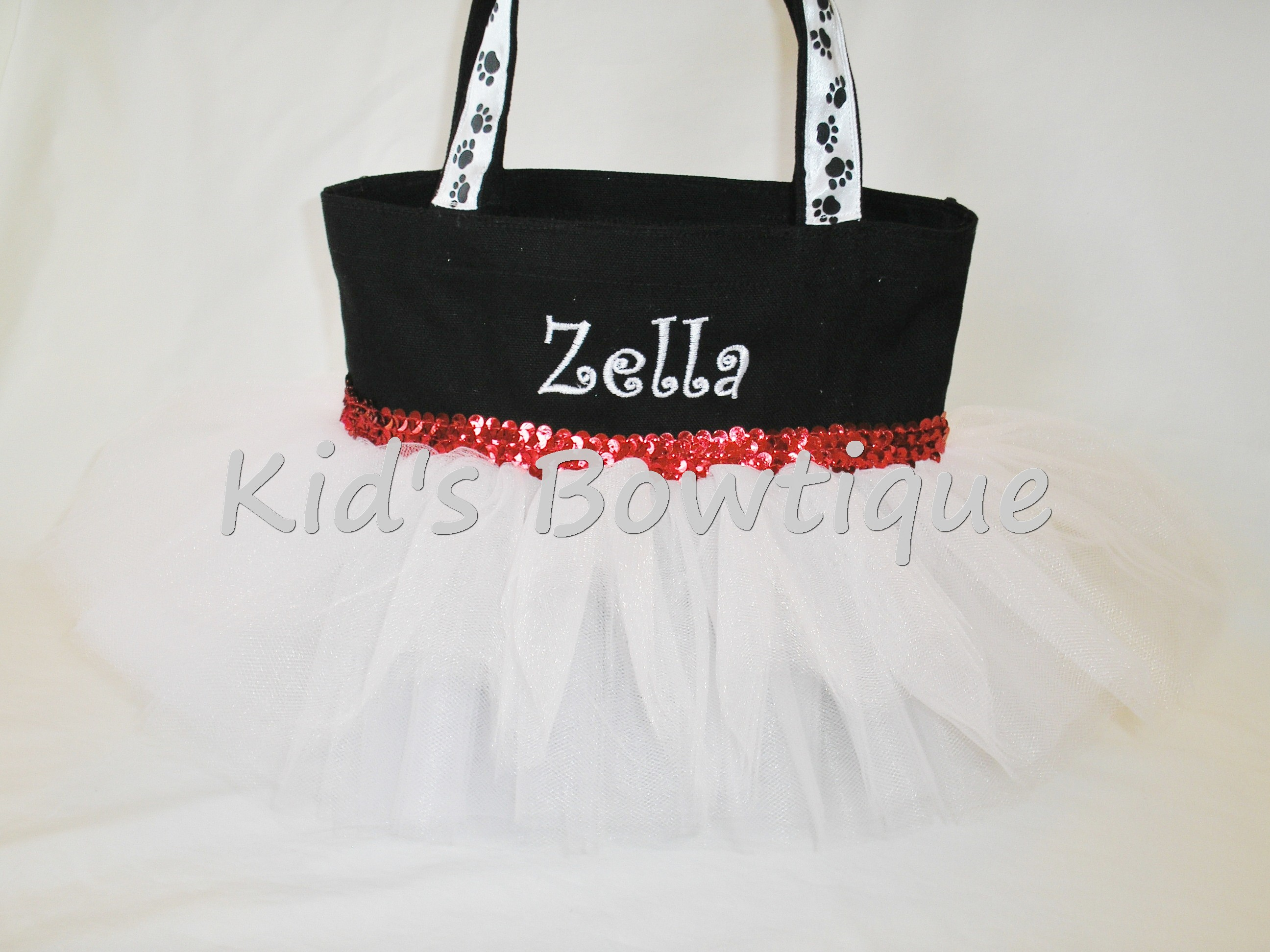 Dalmatian Dog Tutu Bag with no spots