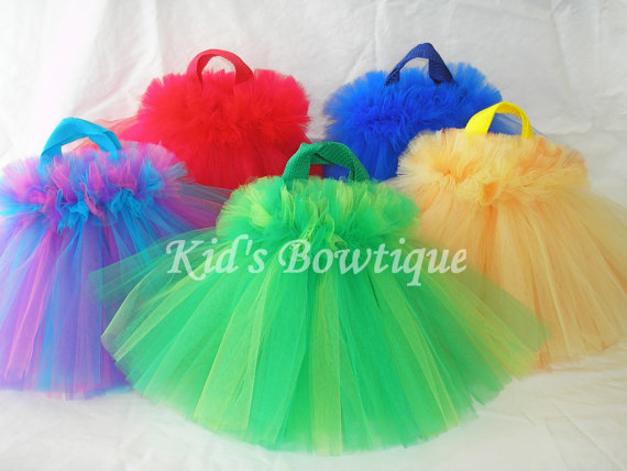sesame street birthday party tutu bags