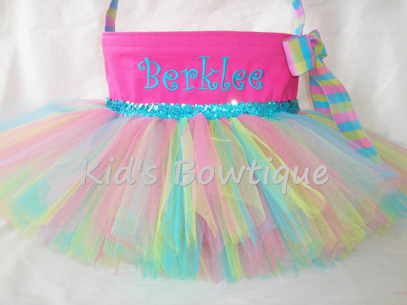 Personalized easter basket tutu bag easter bunny gifts bags easter basket tutu bags negle Image collections