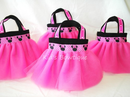 Party Favor Tutu Bags Pftb22 Minnie Mouse Ribbon These