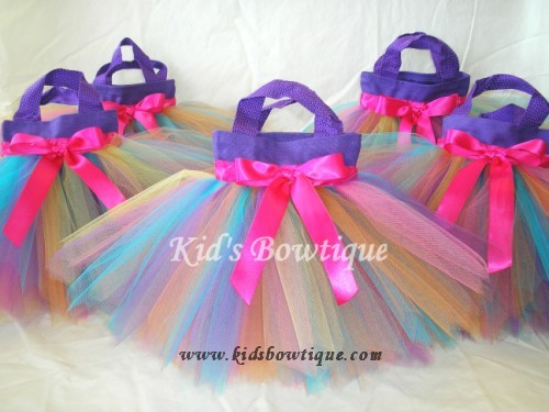 Rainbow Fairy Birthday Party Favor Tutu Bags