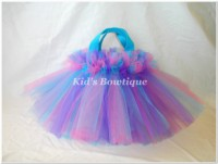 Party Favor Tutu Bags -pftb25 Hot Pink Aqua Purple FLUFF