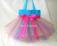 Monogrammed Tutu Tote Bag - Item ttb8 Aqua Rainbow Fairy