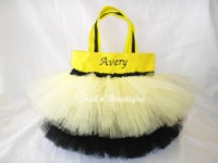 Halloween Tutu Bags - Item HTTB45 Monogrammed Bumble Bee Bag