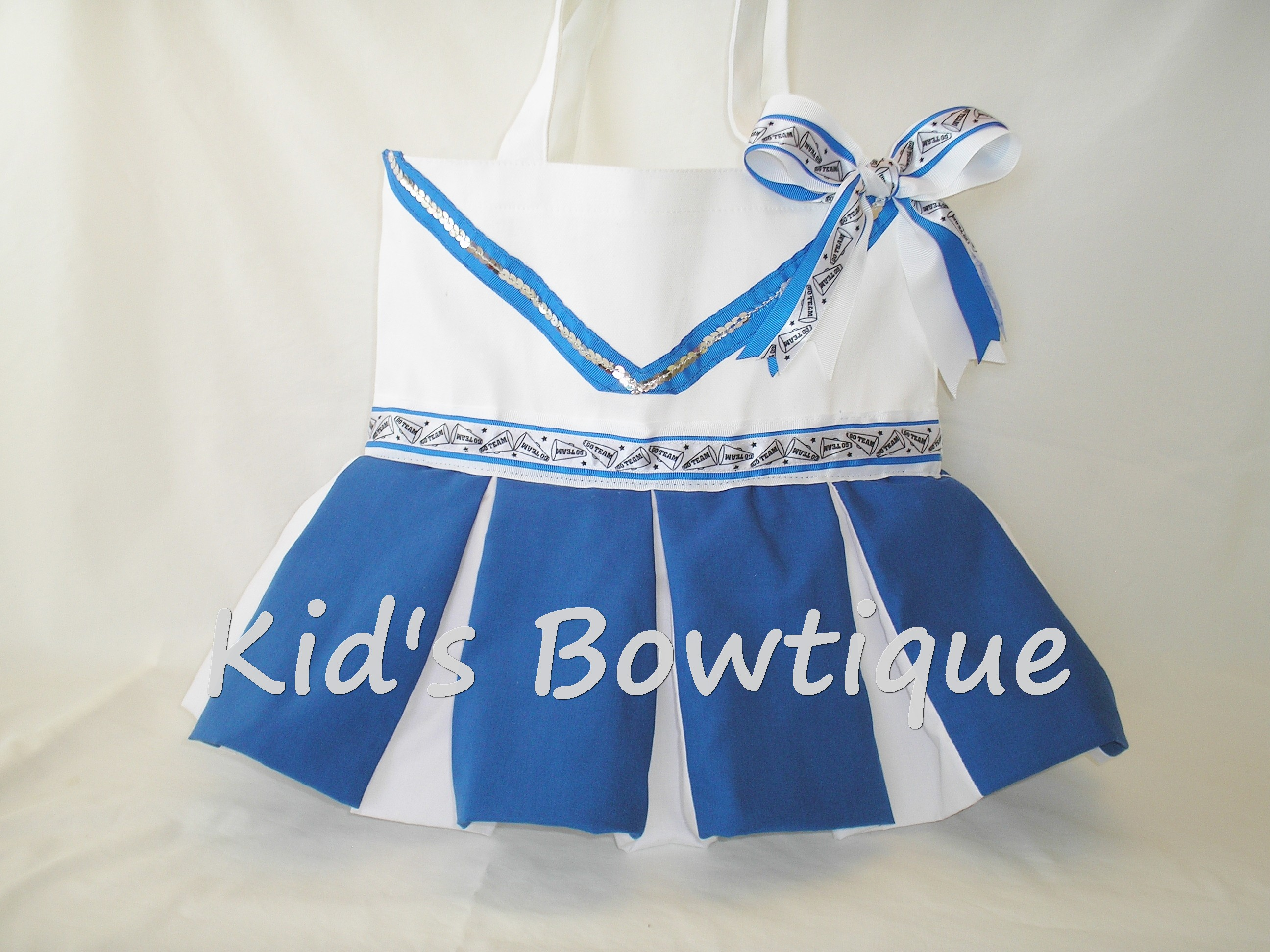Personalized Cheerleader Dance Team Tote Bag - Ribbon and Sequins