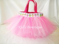 Pink Cupcake Ribbon Tutu Bag
