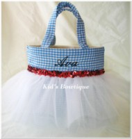 Halloween Tutu Bags - Item HTB5 Monogrammed Gingham Dress Tutu Bag