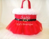 Personalized Tutu Tote Bag - ttb38 Mrs.Santa Claus Ballgown SKIRT