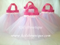 Party Favor Tutu Bags -Item pftb3 Pink/Lavender Stripes Tutu Bag