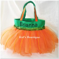 Halloween Tutu Bags - Item HTTB11 Monogrammed Pumpkin Tutu Bag