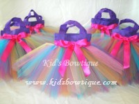 Party Favor Tutu Bags -Item pftb6 Rainbow Fairy Birthday Party