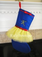 Christmas Tutu Stocking - ItemCTS5 Monogrammed Princess Colors