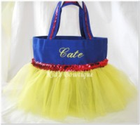 Princess Tutu Bag - ItemPTB1 Blue Bag Yellow Tutu Red Sequins