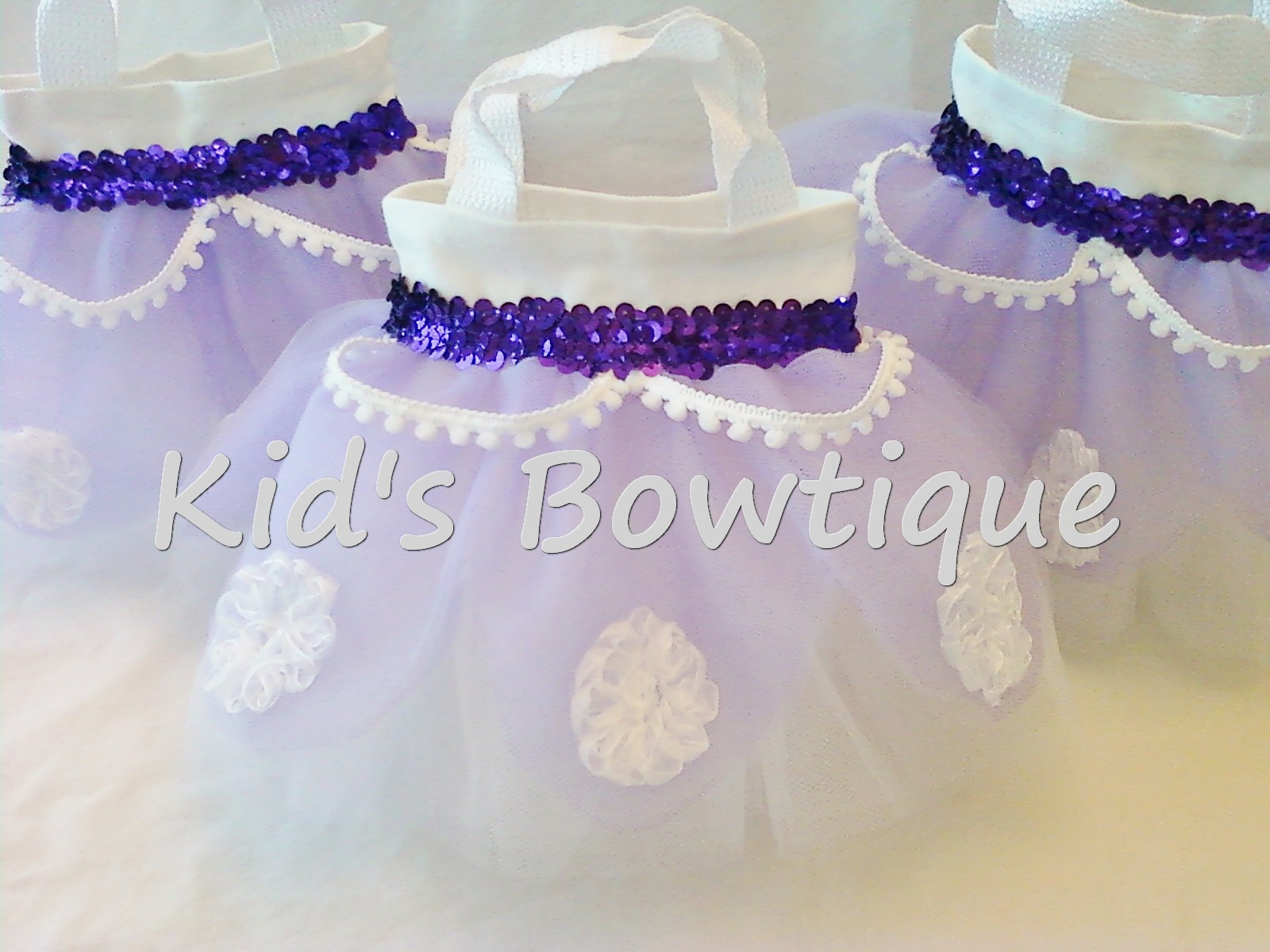 Party Favor Tutu Bags -pftb13 Purple Elegance Princess