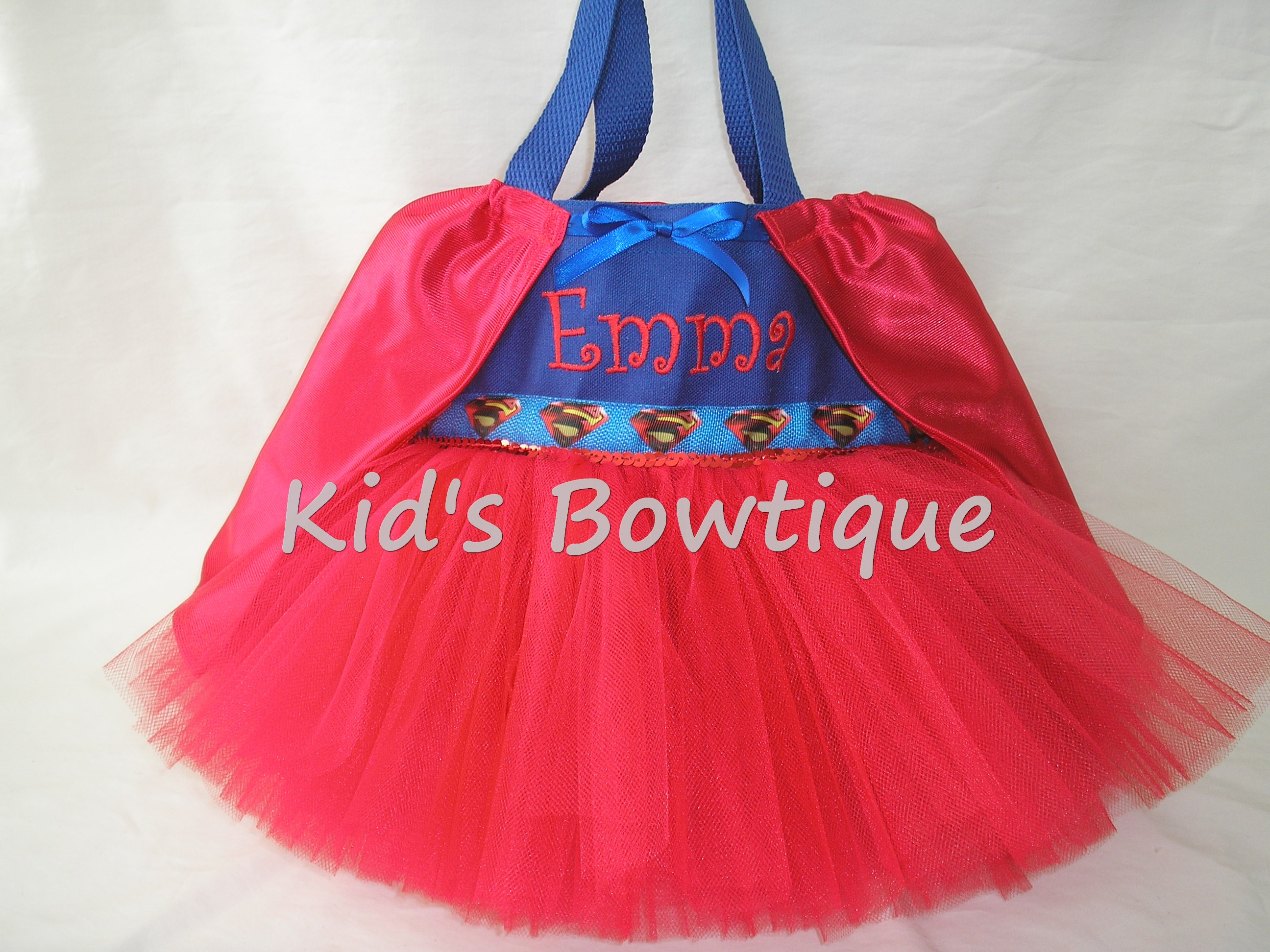 Halloween Tutu Bags - Item HTTB12 Monogrammed Super Baby with Cape