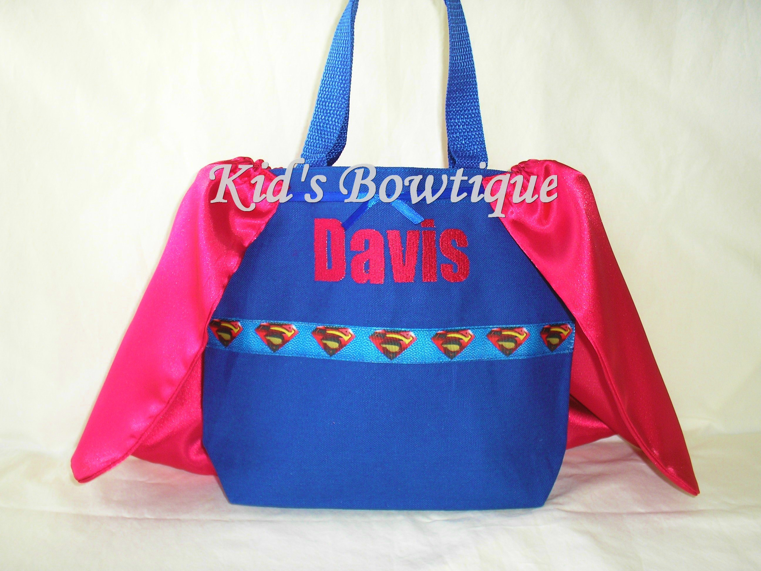 Monogrammed Superhero Cape Boy Bag