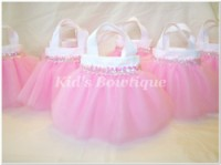 Party Favor Tutu Bags -Item pftb2 Sweet Baby Pink Party Tutu Bags