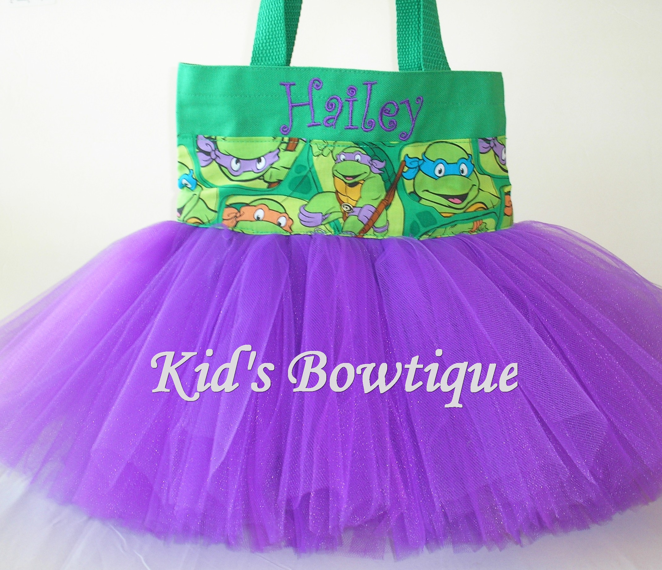 Halloween Tutu Bags - Item HTTB15 Monogrammed Turtles Halloween Tutu Bag