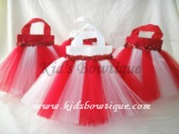 Party Favor Tutu Bags -pftb17 Red and White Big Top Circus