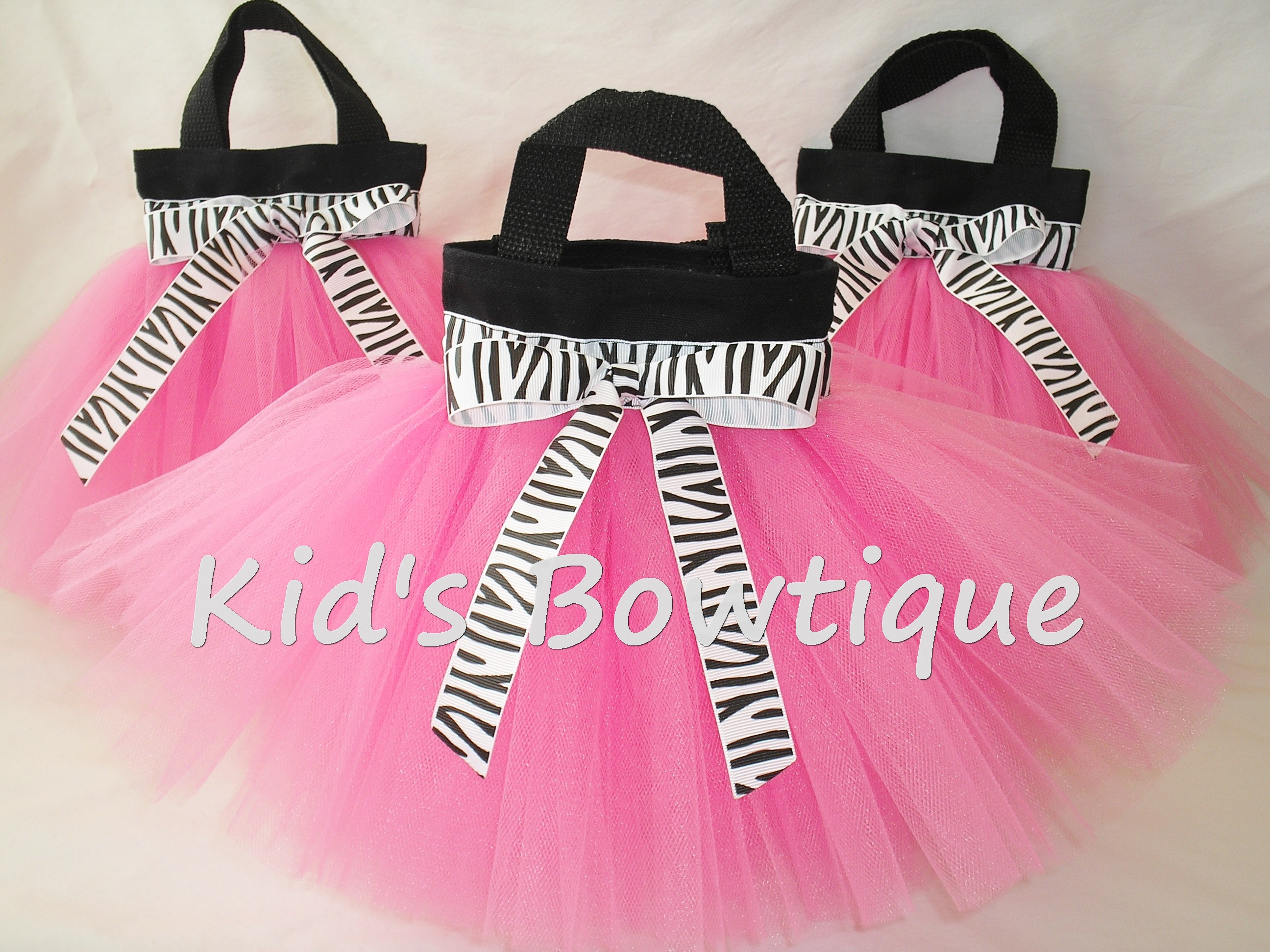 Party Favor Tutu Bags -Item pftb4 Wild About Pink