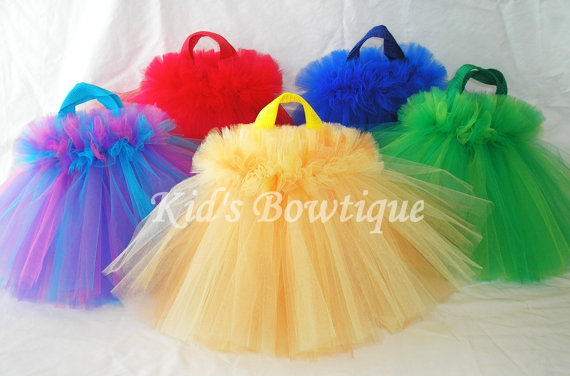 Party Favor Tutu Bags -pftb18 Bright Colors FLUFF