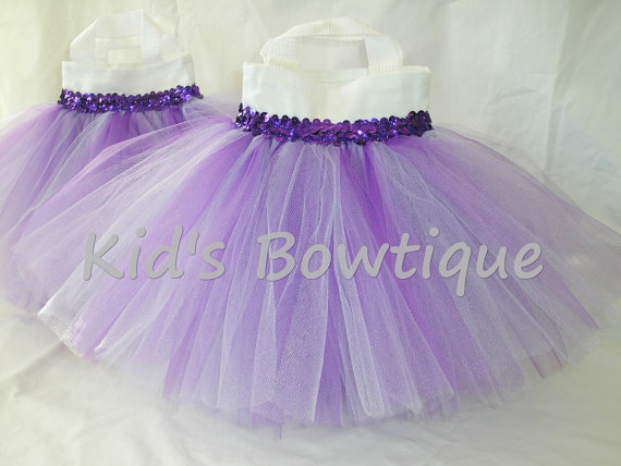 Party Favor Tutu Bags -pftb16 Purple Passion