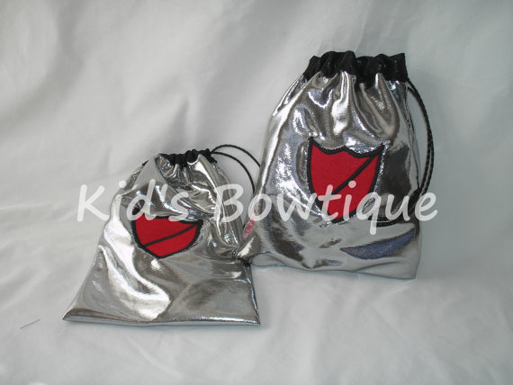 Party Treat Bags - Knight in Shining Armor Drawstring Birthday Party Treat Bags