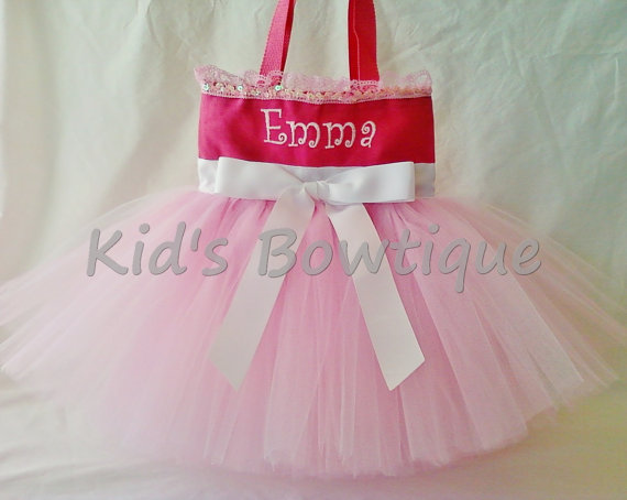 Monogrammed Tutu Tote Bag - ttb11 Pink Beauty and Elegance