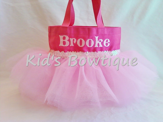 Princess Tutu Bag - ItemPTB2 Pink Bag Pink Tutu Pink Sequins