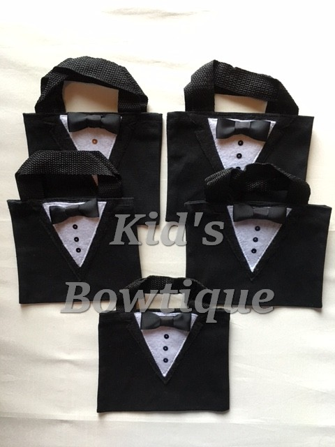Tuxedo party favor bags- bithday bags- wedding gifts